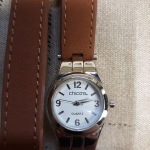 Chicos leather watch